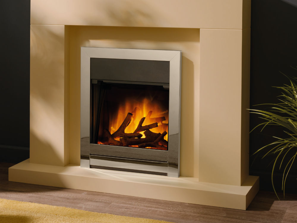 Flamerite Fires Ennio Inset Silver Electric Fire Call